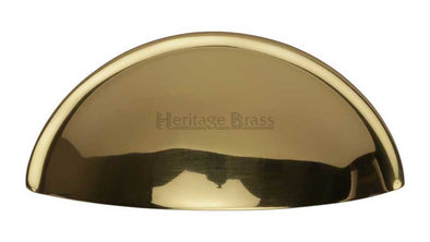 Heritage Brass Polished Brass Cup Cabinet Handle