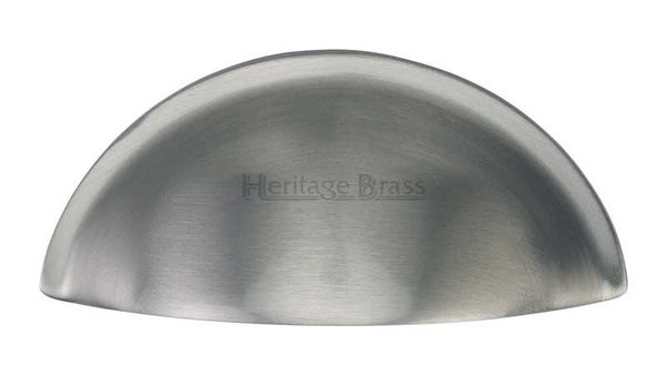 Heritage Brass Satin Chrome Cabinet Cup Pull Length C2760