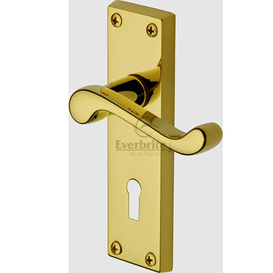 Everbrite Door Handle Lever Lock Bedford Design Everbrite