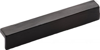 Tudor Collection Matt Black Powder Coated 'L' Pull Cabinet Handle 152 mm Hole Centres
