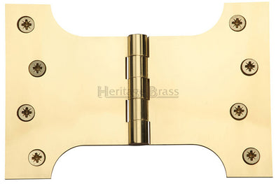 "Heritage Brass Parliament Hinge Brass 4"" x 4"" x 6"" Polished Brass finish"