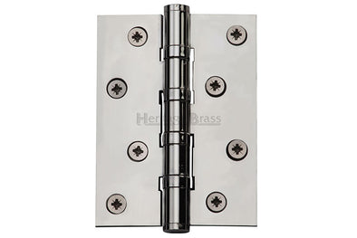 "Heritage Brass Hinge Brass with Ball Bearing 4"" x 3"" Polished Chrome finish"