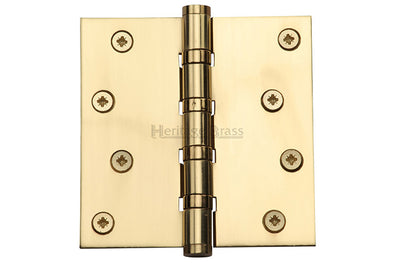 "Heritage Brass Hinge Brass with Ball Bearing 4"" x 4"" Polished Brass finish"