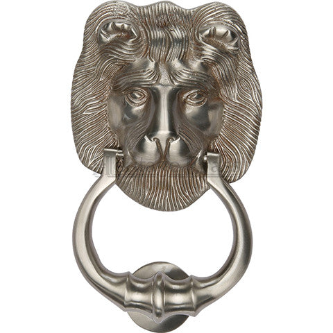 Heritage Brass Lion Knocker Satin Nickel finish