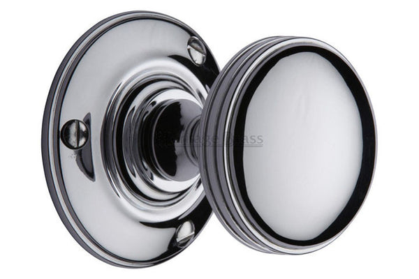 Heritage Brass Richmond Polished Chrome Mortice Knob