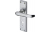 Heritage Brass Windsor Lever Backplate Satin Chrome
