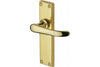 Heritage Brass Windsor Lever Backplate Polished Brass
