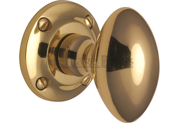 Heritage Brass Suffolk Polished Brass Mortice Knob