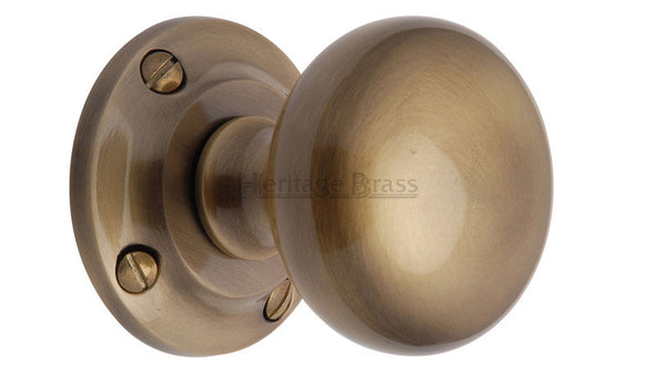 Heritage Brass Victoria Antique Brass Mortice Knob