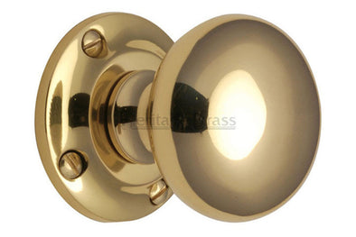 Heritage Brass Victoria Polished Brass Mortice Knob