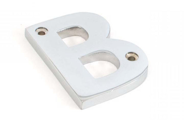 From the Anvil Polished Chrome Letter B