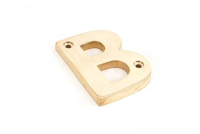 From the Anvil Polished Brass Letter B