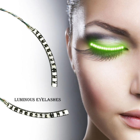 Trend Alert: LED Eyelashes Turn Your Face into a Rave Get ready to shine