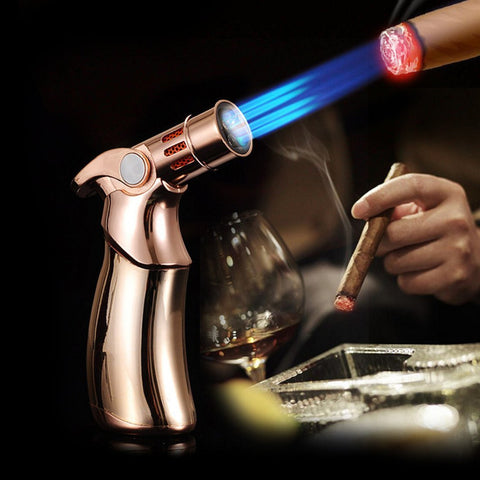 Jobon Original Quad Jet Straight Flame Butane Spray Torch Lighter