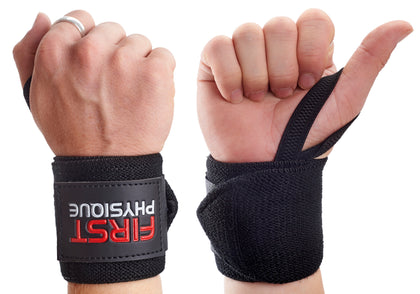 Heavy Duty Weight Lifting Gym Wrist Wraps - First Physique
