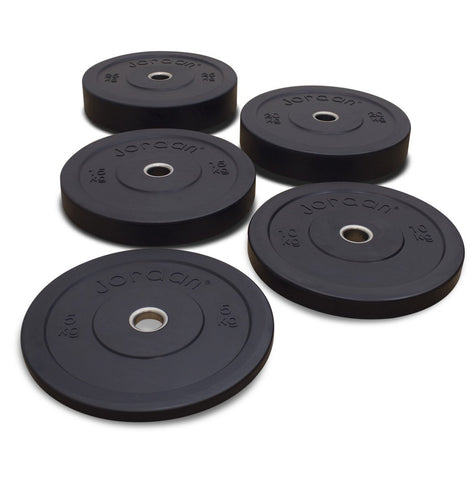 High Grade Olympic Black Rubber Bumper Plates - First Physique