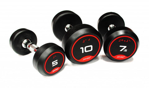 Jordan Classic Rubber Solid End Dumbbells - First Physique