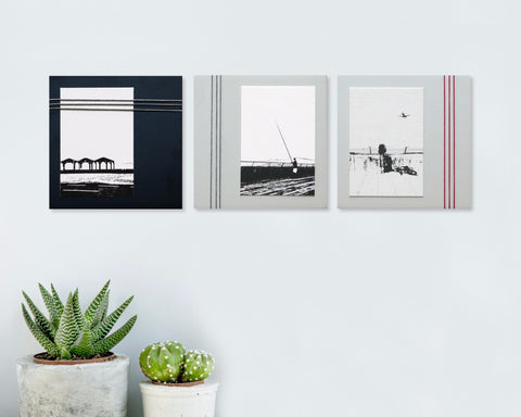 "Set of 3 wall pictures | ""Beach"" series - Studio Connections"