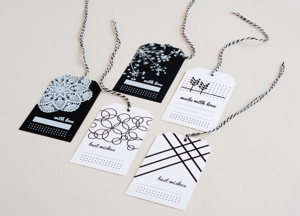 Gift Tags | Black / White - Studio Connections - 2