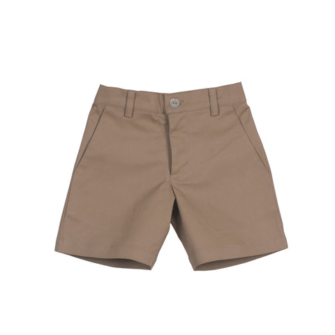 Camel Boys' Shorts with Zipper Front