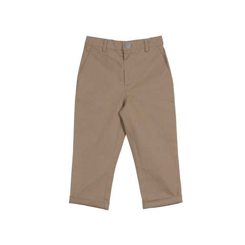 Camel Trousers with Zipper Front