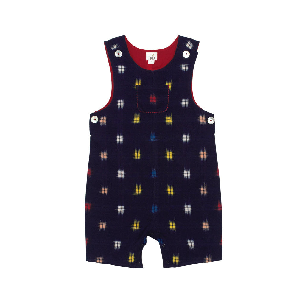 d67c3280a Multicolour Double Ikat Romper Shorts with snap buttons – TOTA