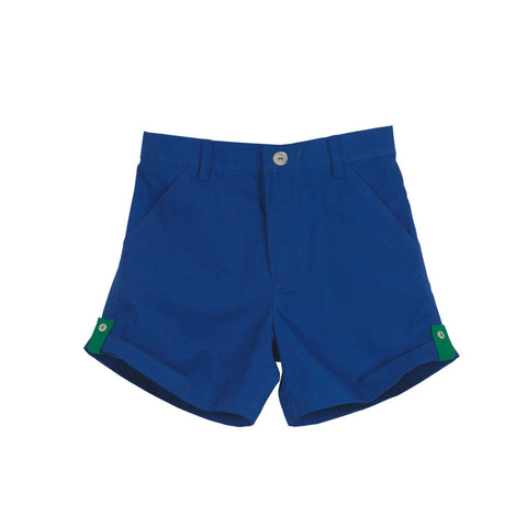 Unisex Roll-up Cobalt Shorts with Emerald Loops