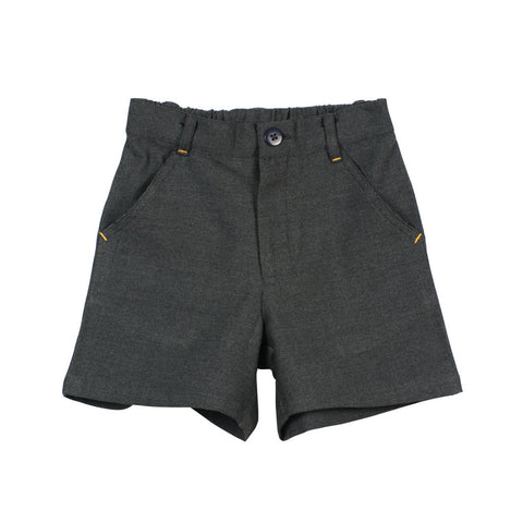 Grey Boys' Shorts with zipper front