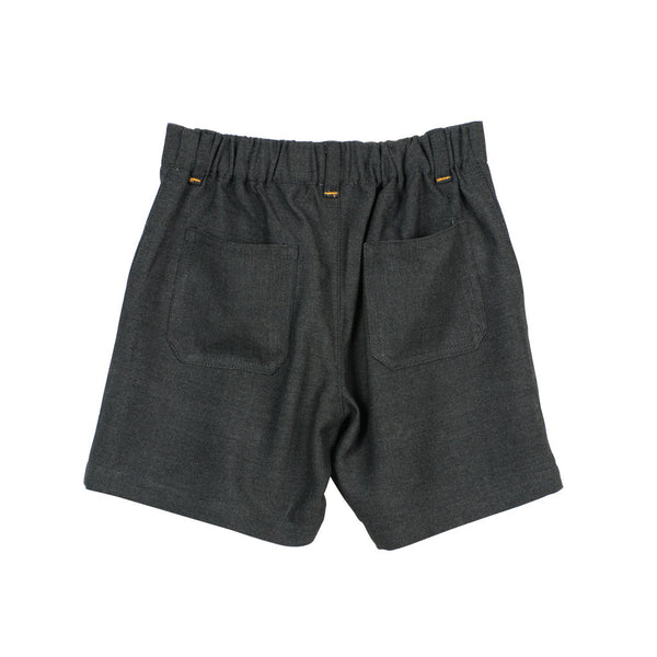 Grey Boys' Shorts with elastic back