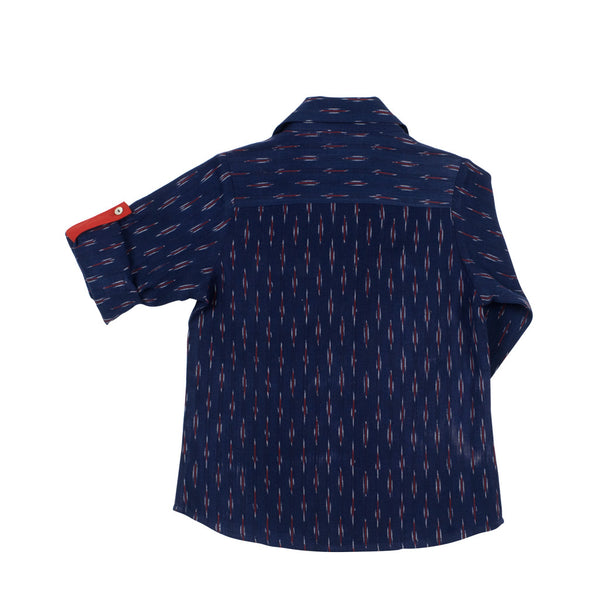 Boys' Shirt - Indigo Ikat