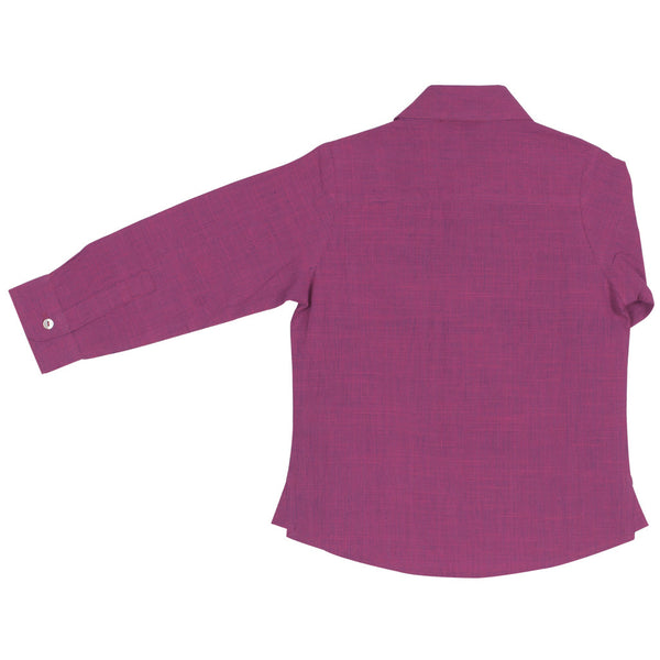 Magenta Boys' Shirt with long sleeves