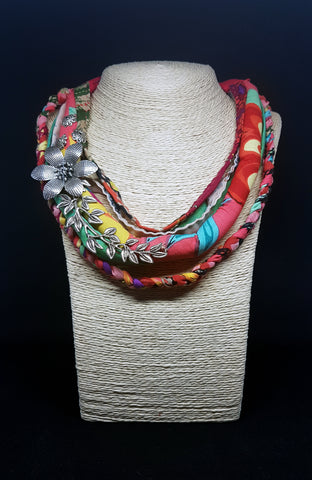 Fabric roll neck piece