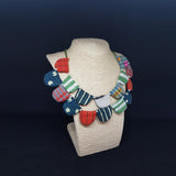 Fabric multi color  Neck piece