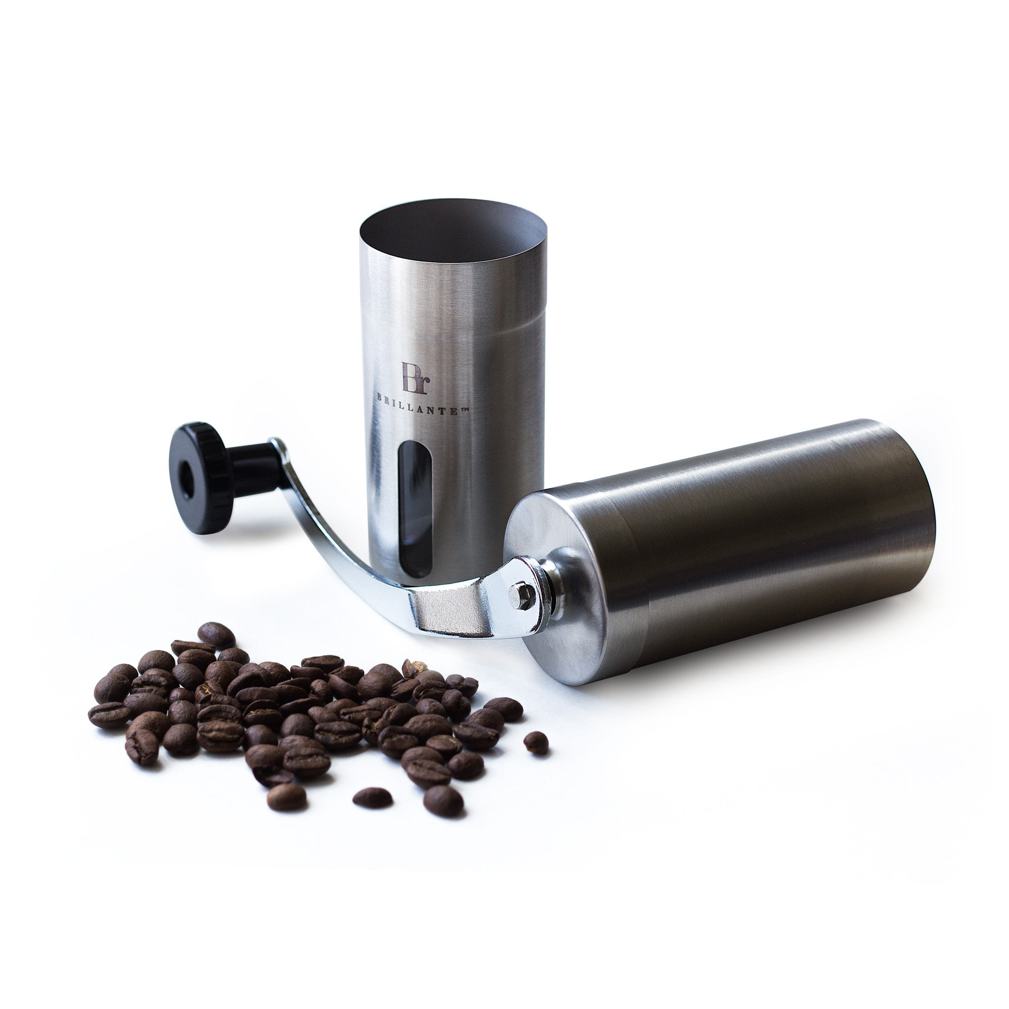 Brillante™ BR-MCG-SS1 Manual Burr Coffee Grinder
