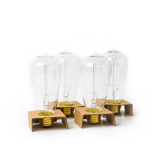Brillante™ Edison Bulb Pack of 4 - 60W Vintage Style Incandescent Bulbs