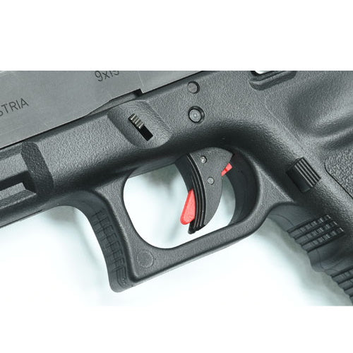 Guarder Ridged Trigger (Black/Red) For TM G-Series 17/26
