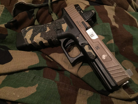 GBBCustom Glock Gen 3/4  Shooter Ready Grip Tape (Wooland Camo) For G17, G18, G22, G24, G34, G35