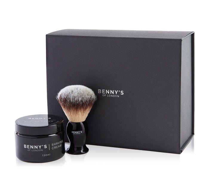SHAVING CREAM AND BRUSH SET - Benny's of London - bennys of london