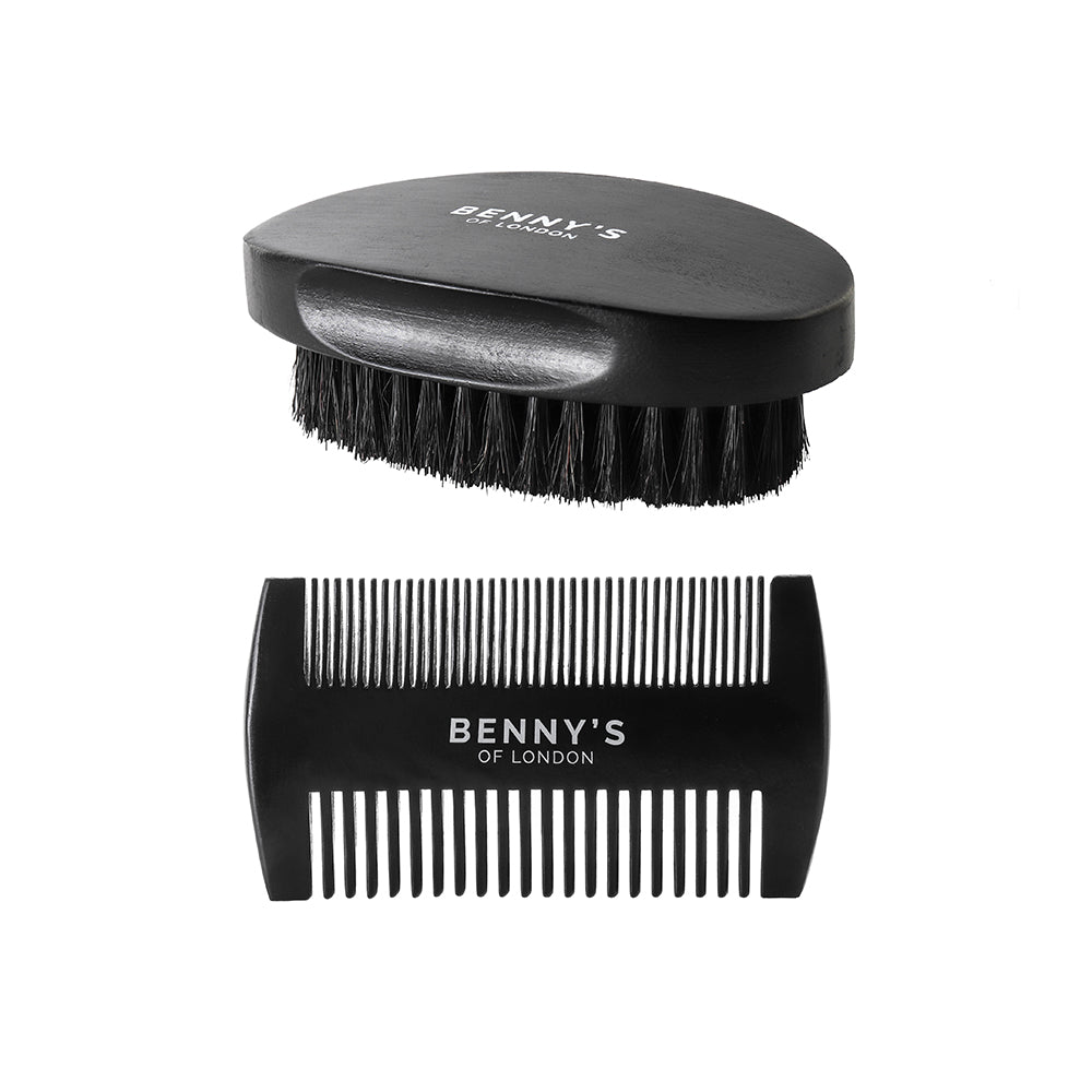 BEARD BRUSH & COMB GIFT SET - Benny's of London - bennys of london