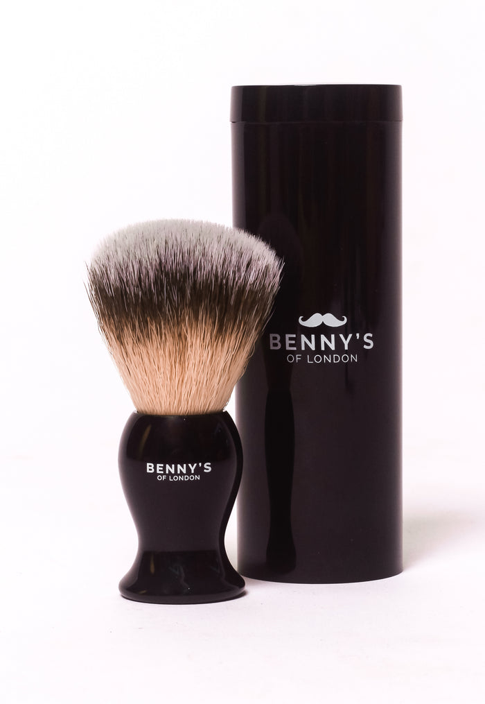TRAVEL SHAVING BRUSH with TRAVEL CASE - Benny's of London - bennys of london