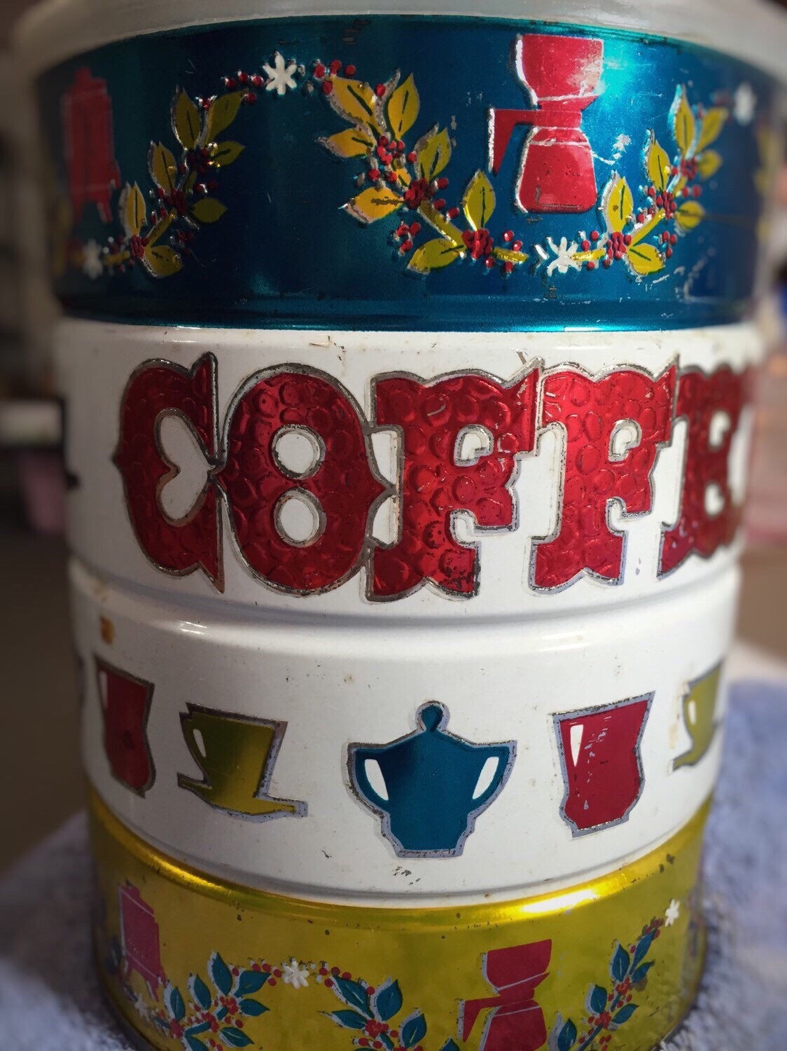 vintage antique coffee canister