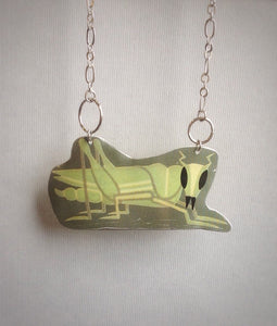 vintage tin toy - Ohio art - tin necklace jewelry