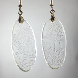 Broken china jewelry glass earrings