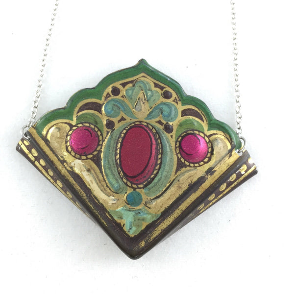Vintage tin jewelry - unique accessories