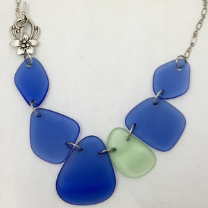 Glass necklace - statement necklace