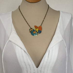 Recycled Tin Jewelry - Women's Butterfly Necklace with shirt