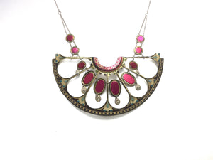 Tin Jewelry - Vintage Victorian statement necklace Main Image