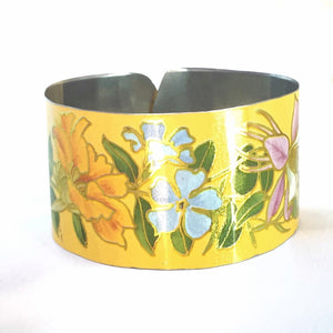 Recycled vintage Tin can  jewelry cuff Bracelet