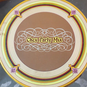 vintage chex mix tin