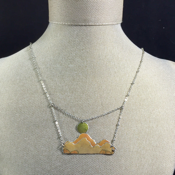 Tin jewelry mountain necklace